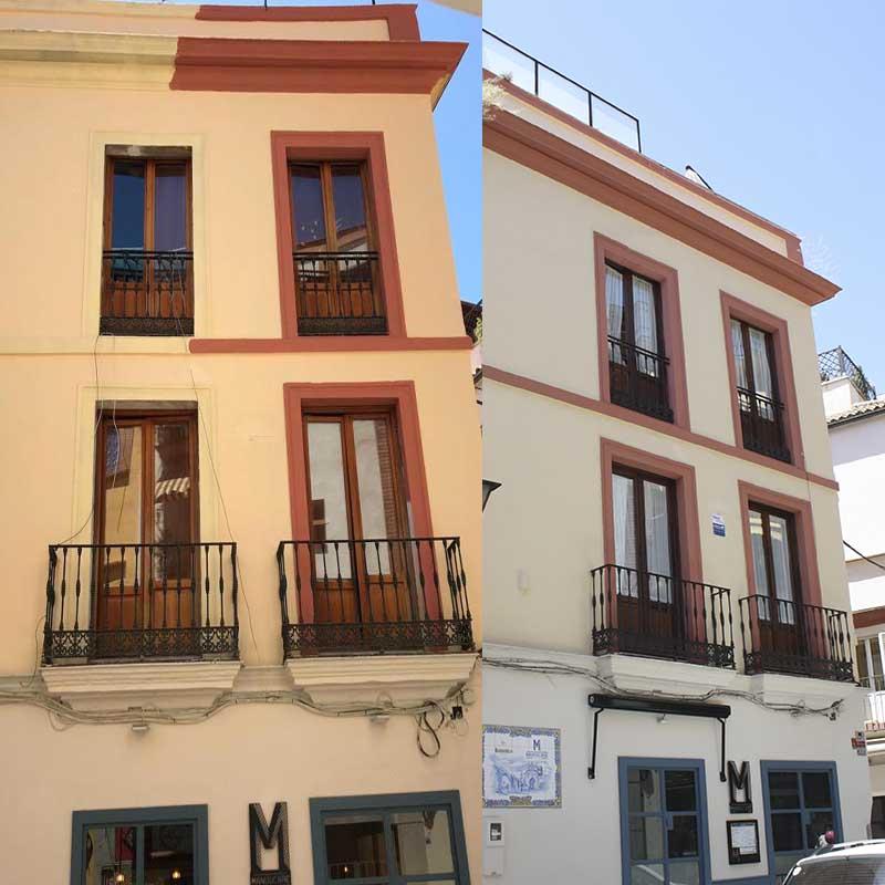fachada recien pintada